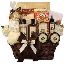 spa baskets essence of luxury warm vanilla spa bath and gift basket set
