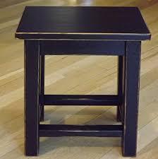 Amazon Com Distressed Black Wood Side Table Small End Table Handmade
