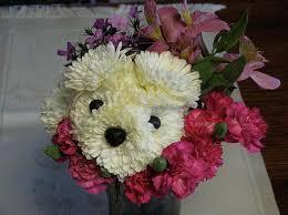 dog flower arrangement lovely flower dog design swan