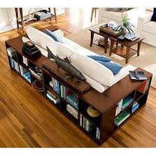 Bookshelf Behind Couch Sofas With Shelving Wraps Tables And House