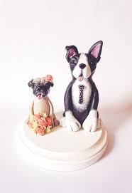 dog cake topper pug boston terrier wedding cake topper