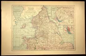 England Home Decor England Railroad Map England Wales Map Liverpool Map Wall Decor