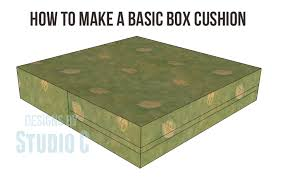how to make a basic box cushion no zipper no hassle great