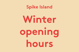winter opening hours other events spike island