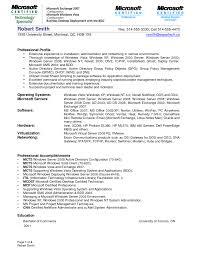 Sample Resume Doc Download Windows System Administration Sample Resume