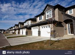 Starter Homes by New Build Gated Community Starter Suburban Homes Saskatoon Stock