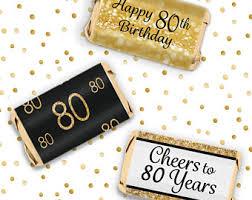 80th Birthday Party Decorations 80th Birthday Etsy