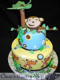 monkey baby shower cake italian bakery fondant wedding cakes pastries and