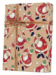 kraft christmas wrapping paper santa celebration kraft gift wrap innisbrook wrapping paper