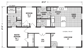 Floor Plans For Mobile Homes Double Wide Athena 28 X 48 1296 Sqft Mobile Home Factory Expo Home Centers