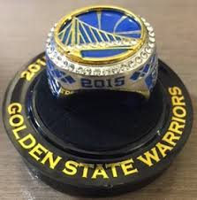 golden state warriors replica 2015 championship ring trophy