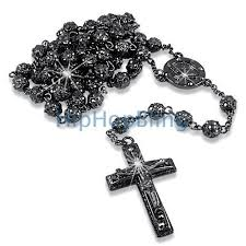black rosary necklace images Rosary blingblowout jpeg