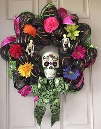 halloween my sugar skulls wreaths pinterest sugar skulls