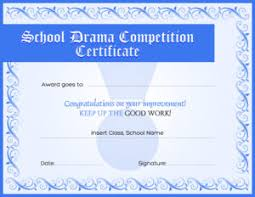 drama competition award certificate template for ms word