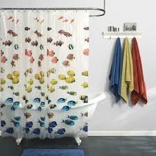 Shower Curtain Clear Maytex Mills School Fish Peva Vinyl Shower Curtain Clear Ebay