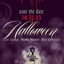 save the date halloween lilybop 2012 happy halloween adam lambert