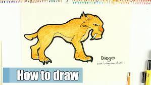 draw diego ice age kidstoy channel