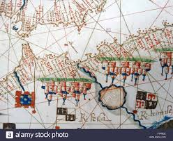 Map Of Mediterranean Europe by Renaissance Map Of Europe Jacopo Russo 1528 Detail Showing The