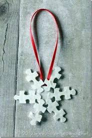 puzzle ornaments puzzle pieces canes and reuse