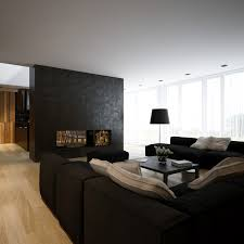 Wood Fireplace Insert by Living Room Black Sectinoal Sofa Minimalist Contemporary Living