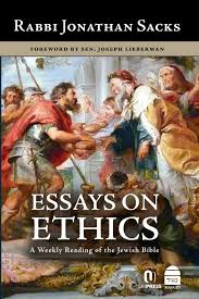 essays on ethics a weekly reading of the jewish bible jonathan