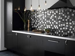 awesome black white kitchen tile decoration with mosaic kitchen