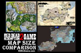 Gta World Map Red Dead Redemption 2 Map Images Size U0026 Comparison With Other Games