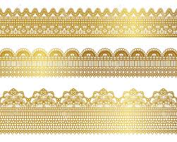 gold lace ribbon gold lace set royalty free cliparts vectors and stock