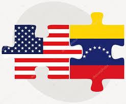 Venezuela Flag Colors Usa And Venezuela Flags In Puzzle U2014 Stock Vector Istanbul2009