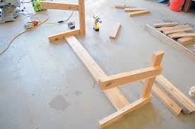 How To Make A Wooden End Table by Free Patio Chair Plans How To Build A Double Chair Bench With Table