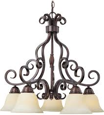 5 light bronze chandelier maxim 12206fioi manor 5 light 26 inch oil rubbed bronze down light