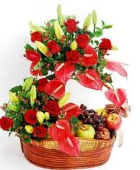 flowers and fruits flowers and fruits basket archives online florist singapore