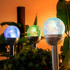 Solar Lights For Patio Shop For Gigalumi Solar Lights Outdoor Cracked Glass Dual