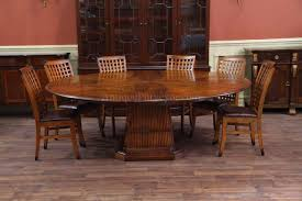 Chair Custom Made Solid Walnut Tripod Oval Expanding Dining Table - Walnut dining room chairs