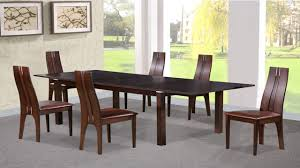 Dining Table And  Chairs In Beechwood Dark Walnut Homegenies - Beech kitchen table