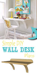 Build A Desk Plans Free by Remodelaholic Simple Diy Wall Desk