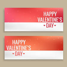 happy valentines day banner happy valentines day banners vector design illustration