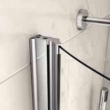 veebath brill curved bath screen for p bath 1400x720mm with knob