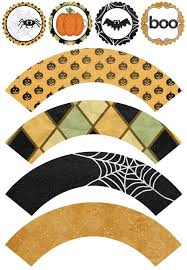 printable halloween cupcake toppers u0026 wrappers halloween