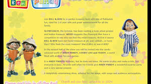 bill ben andy pandy live stage poster u0026 website
