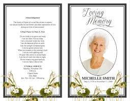 where to print funeral programs funeral program template professional print phlets ideastocker
