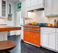 Turquoise And Orange Kitchen by Cluny Cooking Range Art Culinaire Lacanche Usa