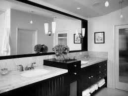 black and white bathroom decorating ideas black wooden bathroom vanity gray marble countertop also