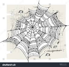 halloween spiders background halloween spider web background stock vector 109236809 shutterstock