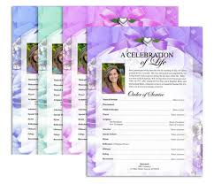 Funeral Program Printing Services Funeral Flyers Memorial Service Programs Design Professional
