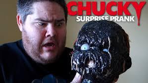 The Challenge Kidbehindacamera The Burned Chucky Doll Prank Angry