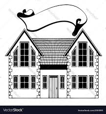 home freehand drawing icon royalty free vector image