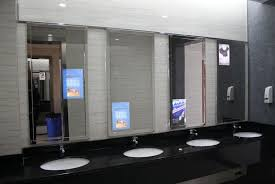 Bathroom Mirror Tv by Frameless Bathroom Mirrors Frameless Large Bathroom Mirror With