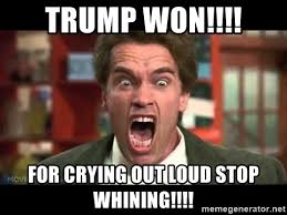 Stop Whining Meme - trump won for crying out loud stop whining stop whining