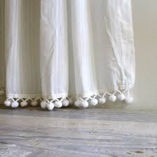 White Curtains With Pom Poms Decorating Nifty Curtains As As Pom Curtain Trim Living Rooms Grey
